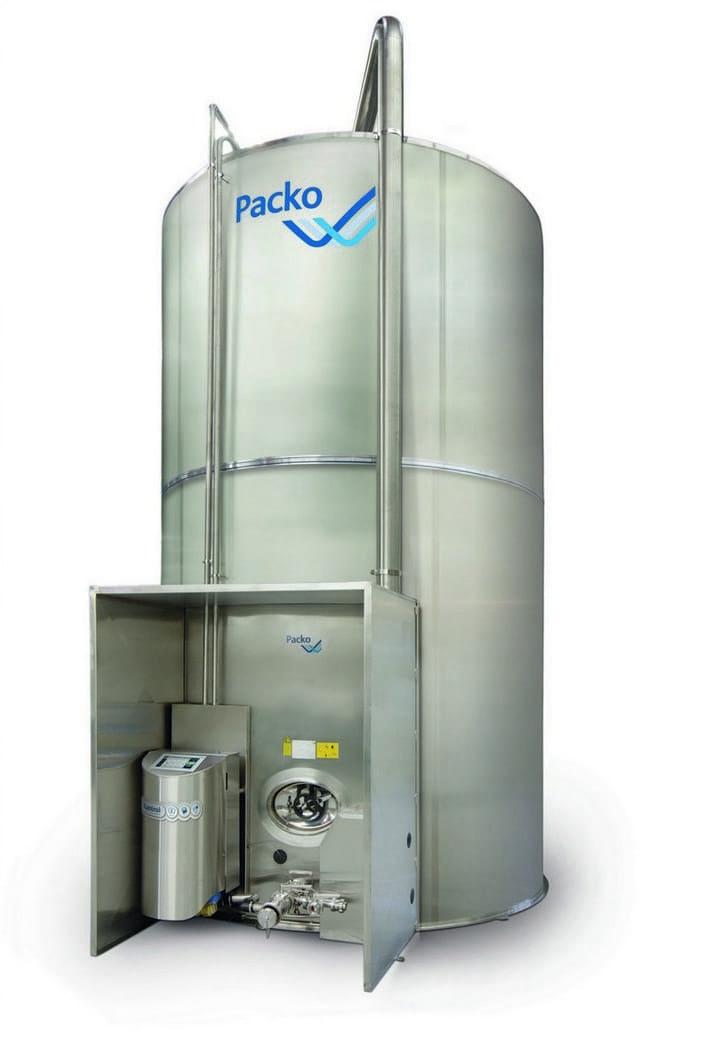 Вертикальный танк для молока